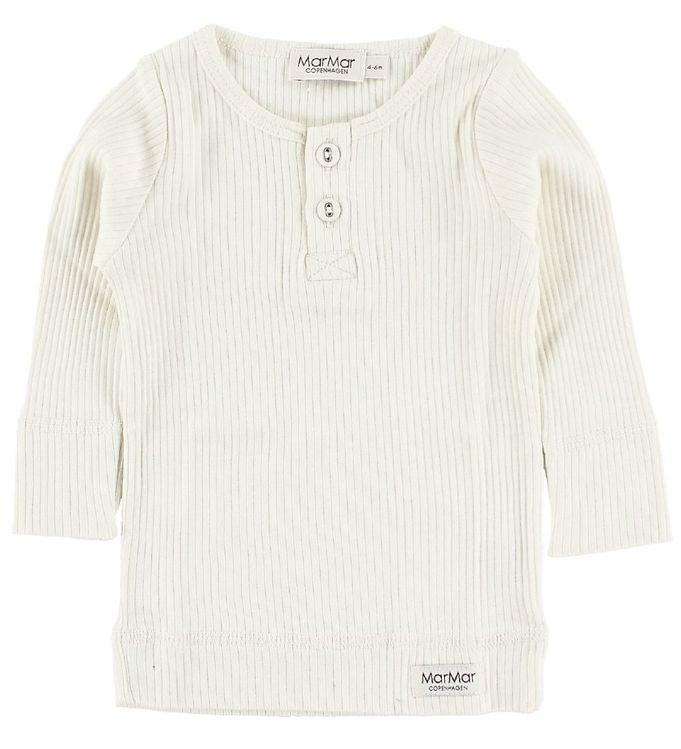 43493e20 MarMar Bluse - 2x2 Rib - Offwhite - Køb her med gratis fragt og ...