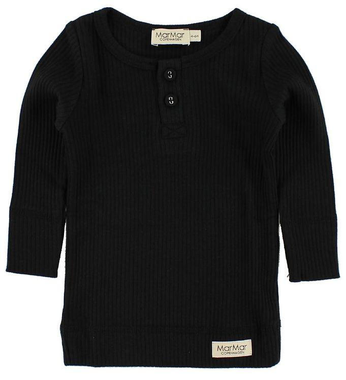 f5c630b0 MarMar Bluse - 2x2 Rib - Sort - Køb her med gratis fragt og mulighed ...