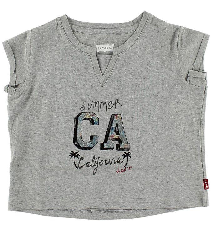 Image of Levis T-shirt - Gråmeleret m. California (IH094)
