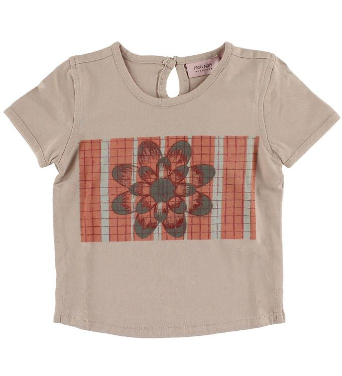 Image of Noa Noa Miniature T-shirt - Gammel Rosa m. Blomst (IH273)
