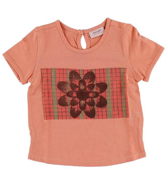 Image of Noa Noa Miniature T-shirt - Koral m. Blomst (IH276)