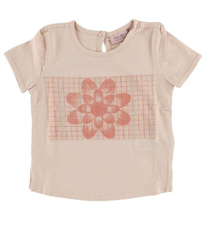 Image of Noa Noa Miniature T-shirt - Lys Rosa m. Blomst (IH277)