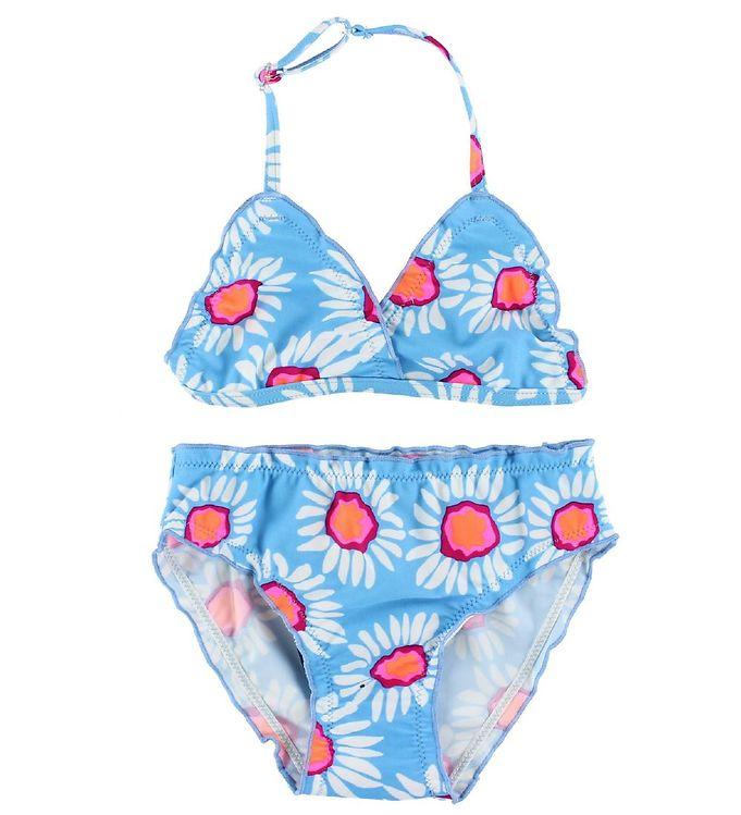 Image of Color Kids Bikini - Vivi - UV40 - Lyseblå m. Blomster (IH624)