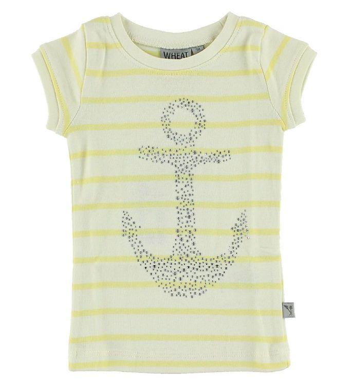 Image of Wheat T-shirt - Creme/Gul m. Anker (IH948)