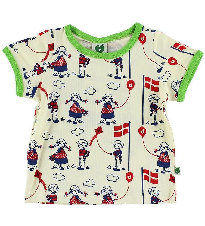 Image of Småfolk T-shirt - Creme m. Fødselsdag (IJ031)