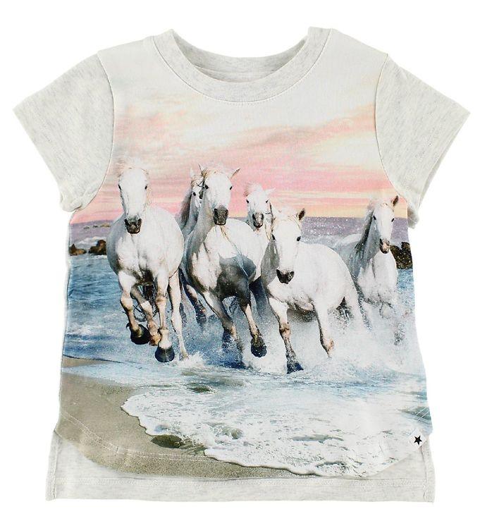 Image of Molo T-Shirt - Erin - White Horses (IP825)