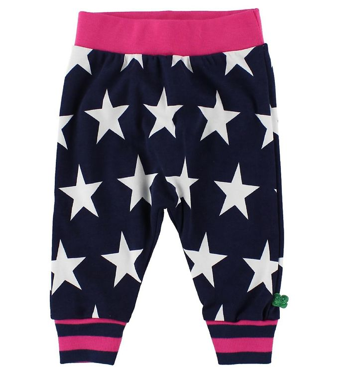 Image of Freds World Bomuldsbukser - Navy/Magenta m. Stjerner (IP847)