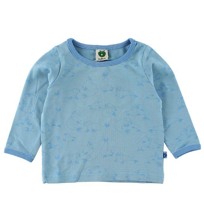 Se Småfolk Småfolk Bluse - Lyseblå m. Søløver ved KidsWorld