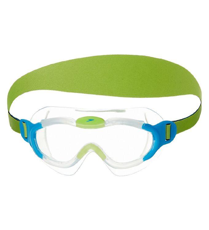 Billede af Speedo Svømmebriller - Sea Squad Mask - Lyseblå/Lime
