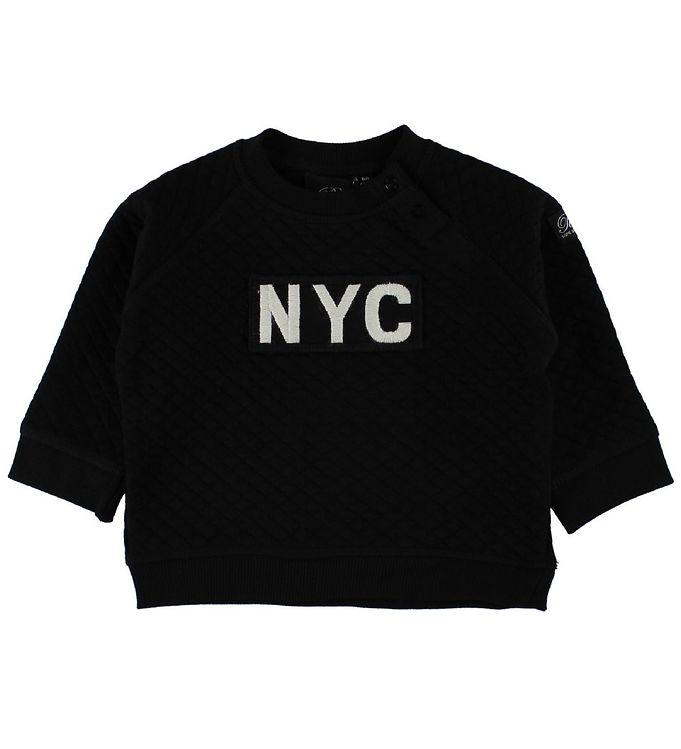 Image of Petit by Sofie Schnoor Bluse - Sort m. NYC (IS364)