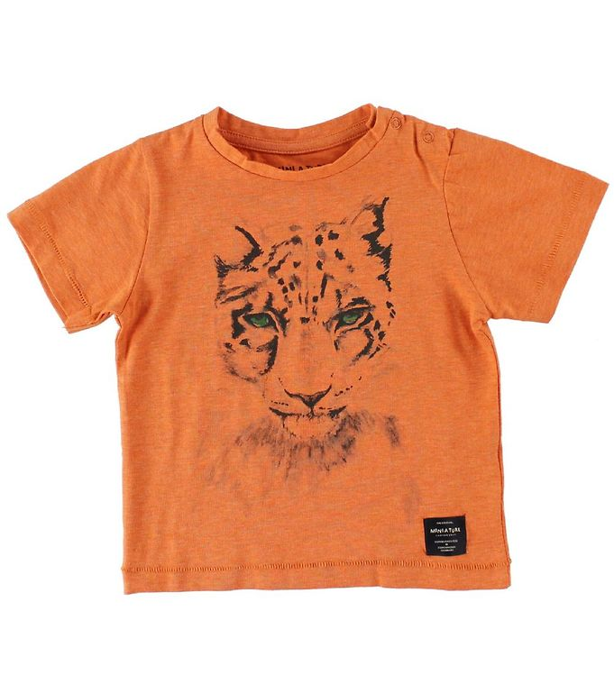 Image of Mini A Ture T-Shirts - Legolas - Orangemeleret m. Leopard (IS848)