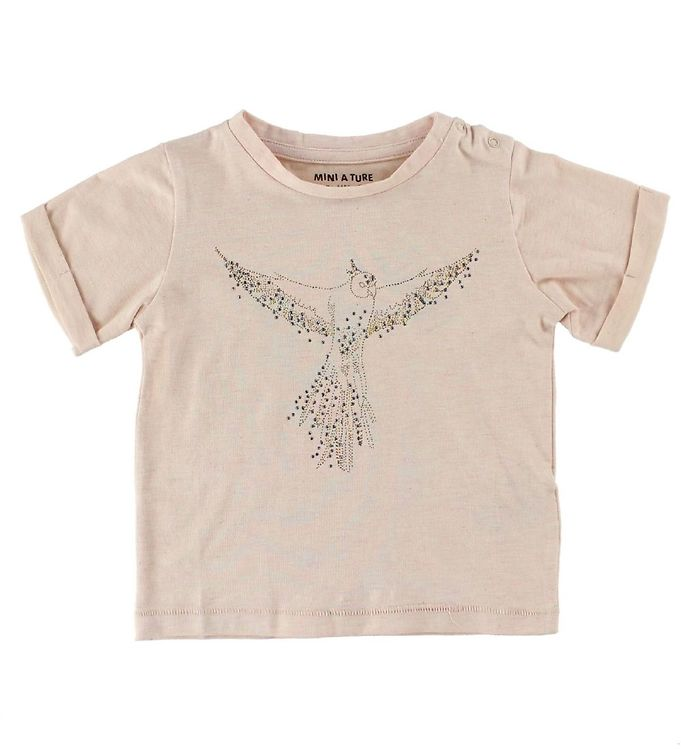 Image of Mini A Ture T-Shirt - Laurine - Puddermeleret m. Fugl (IS856)