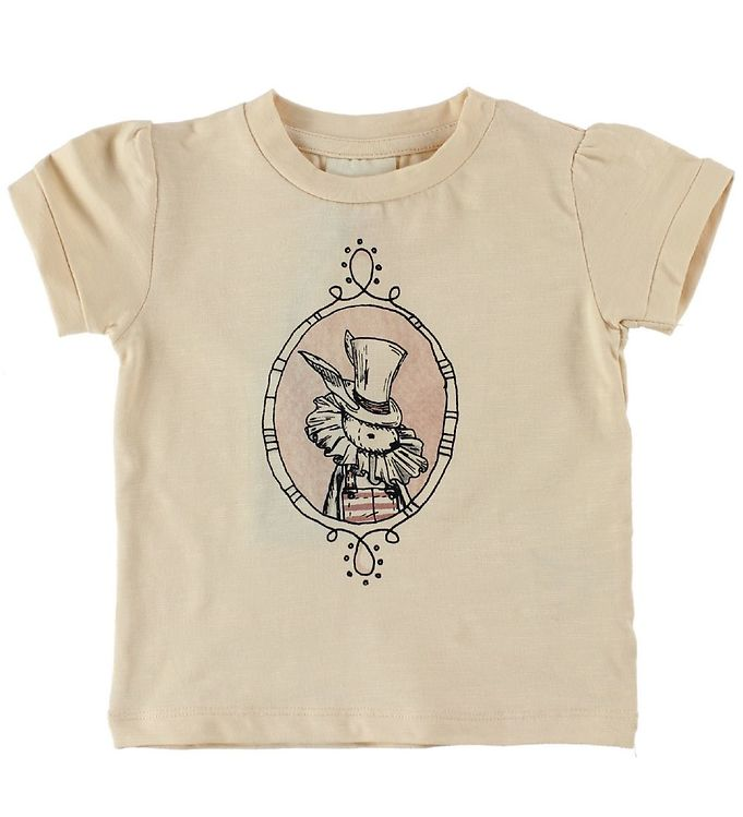 Image of En Fant T-Shirt - Lys Fersken m. Kanin (IU413)