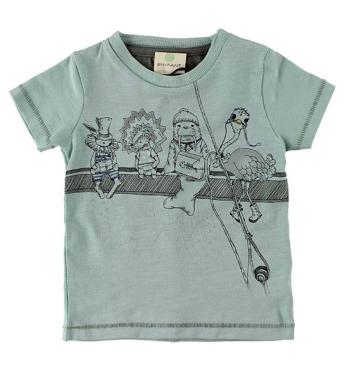 Image of En Fant T-Shirt - Mint m. Dyr (IU419)