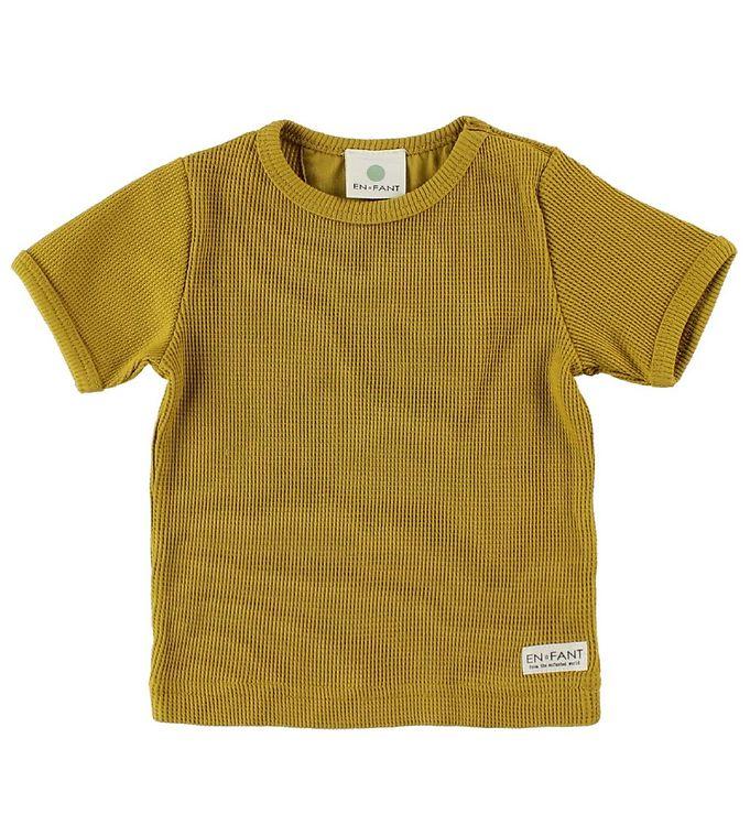 Image of En Fant T-Shirt - Karrygul m. Hulmønster (IU438)