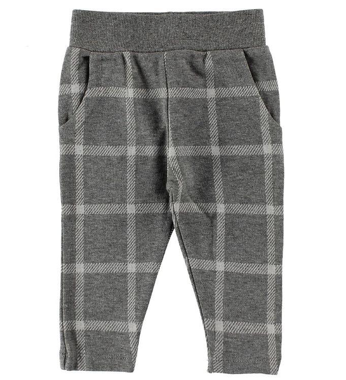 Image of En Fant Sweatpants - Gråmeleret m. Tern (IU487)