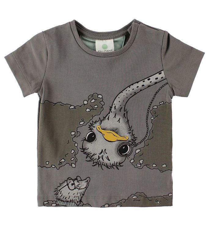 Image of En Fant T-Shirt - Mørkegrå m. Struds (IU511)