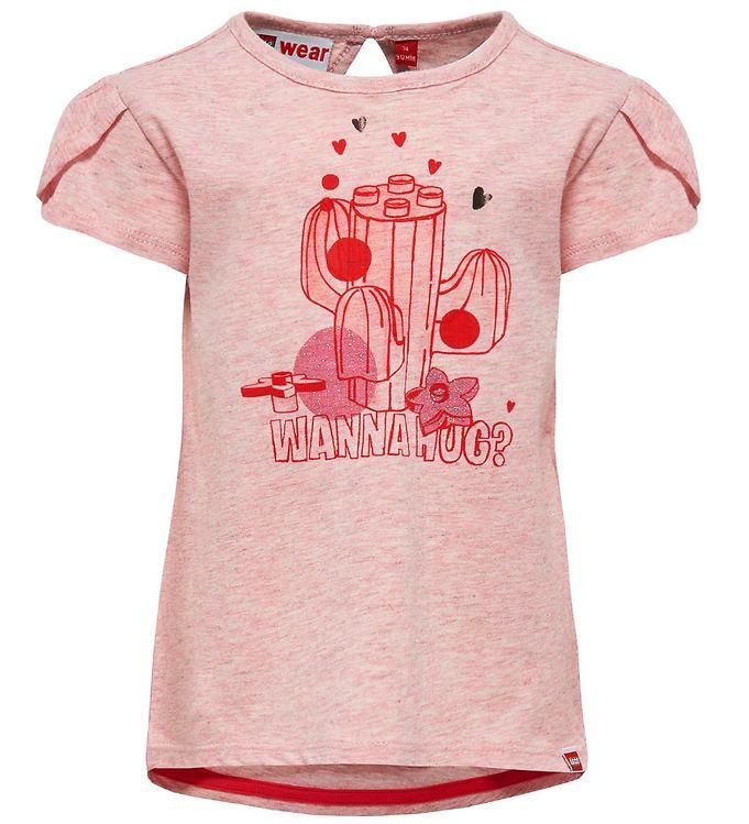 Image of Lego Duplo T-shirt - Rosa m. Kaktus (IX162)