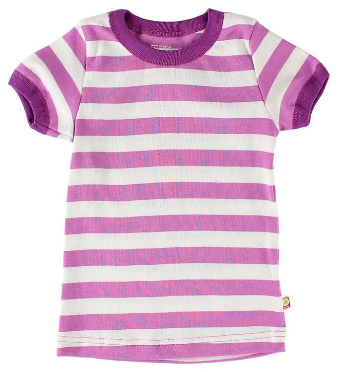 Image of Katvig T-Shirt - Fuchsia/Hvidstribet (IX381)