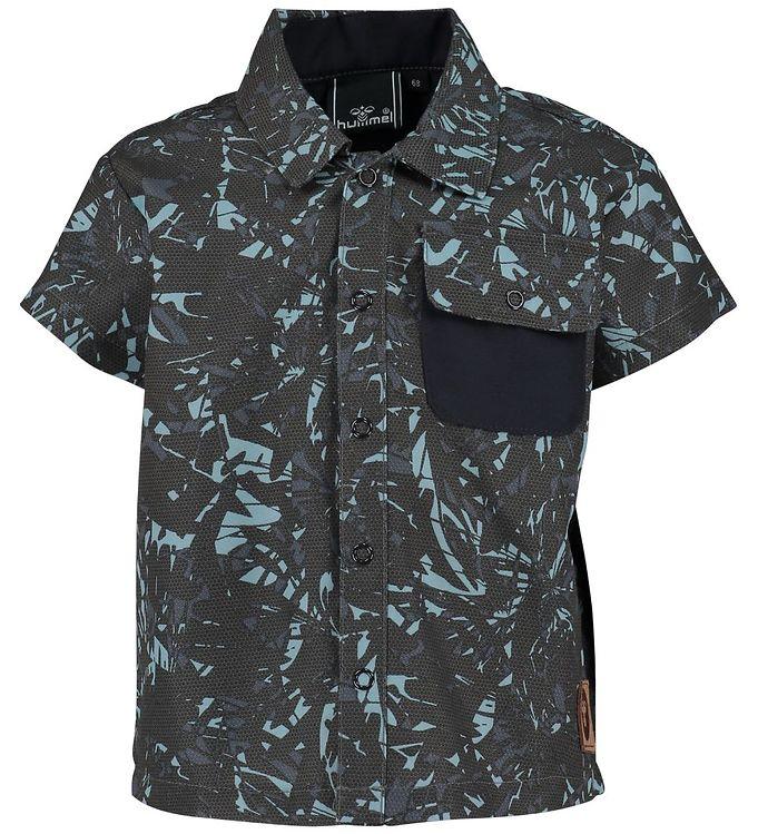 Image of Hummel Skjorte - UV50 - Saxo - Koksgrå/Lyseblå (IZ295)