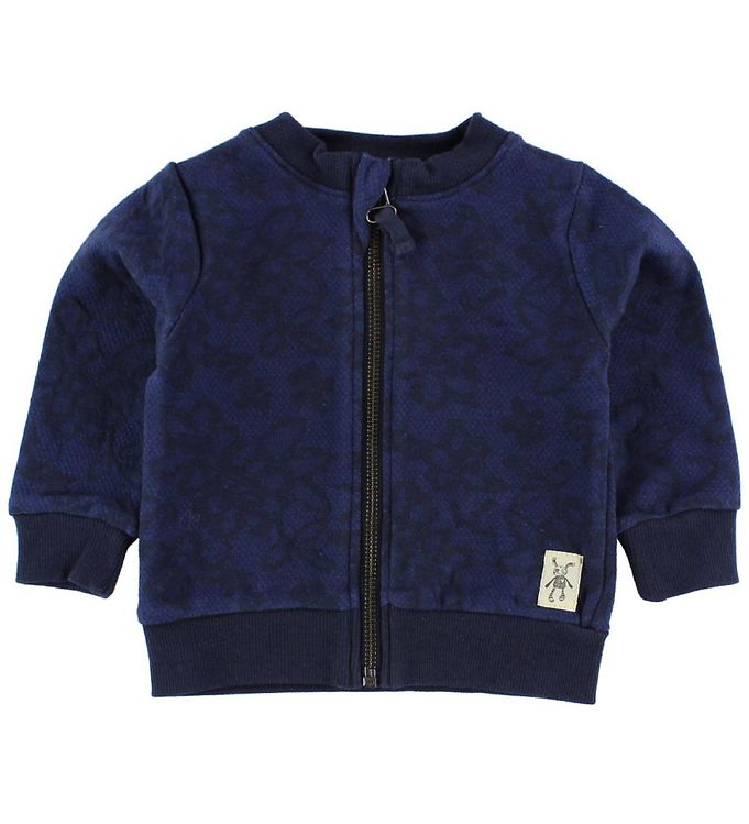 Image of Small Rags Cardigan - Navy m. Blomster (IZ423)