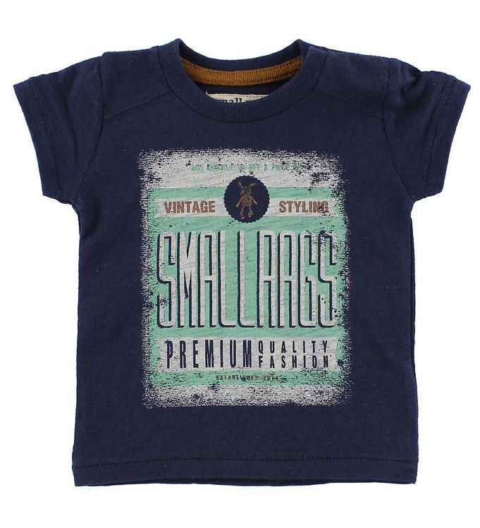 Image of Small Rags T-Shirt - Navy m. Print (IZ491)