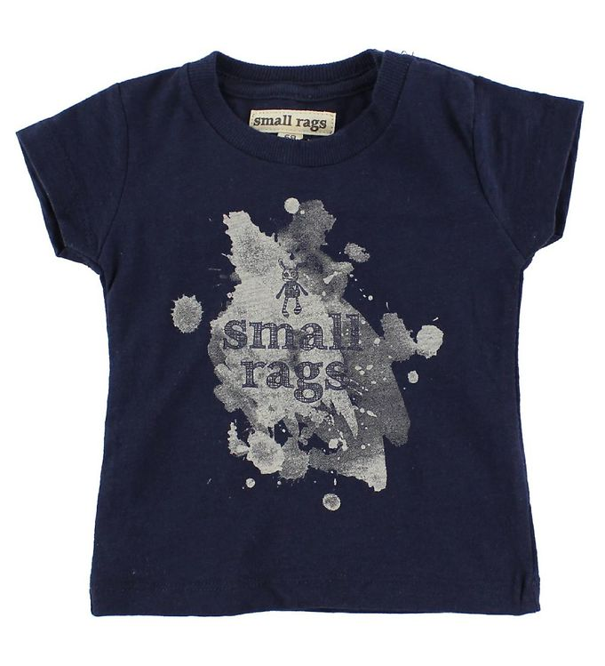 Image of Small Rags T-Shirt - Navy m. Print (IZ494)