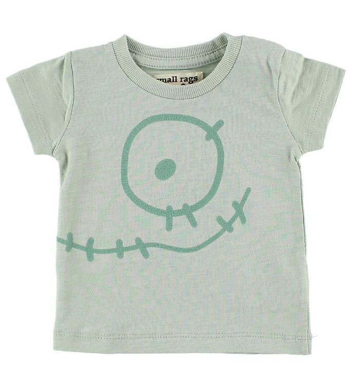 Image of Small Rags T-Shirt - Mint m. Ansigt (IZ495)