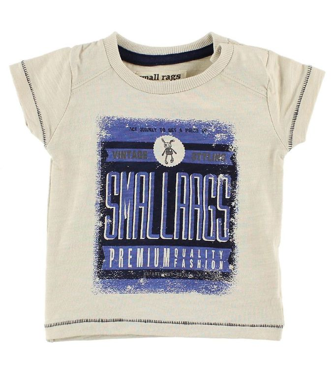 Image of Small Rags T-Shirt - Crememeleret m. Print (IZ496)