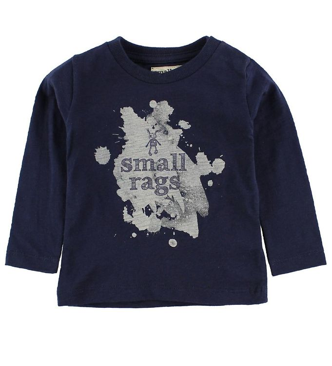 Image of Small Rags Bluse - Navy m. Print (IZ498)