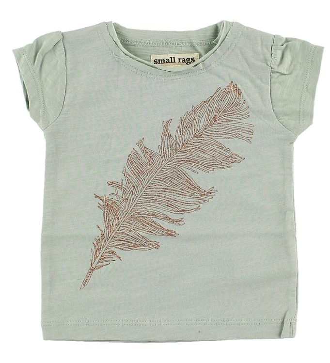Image of Small Rags T-Shirt - Mint m. Fjer (JA508)