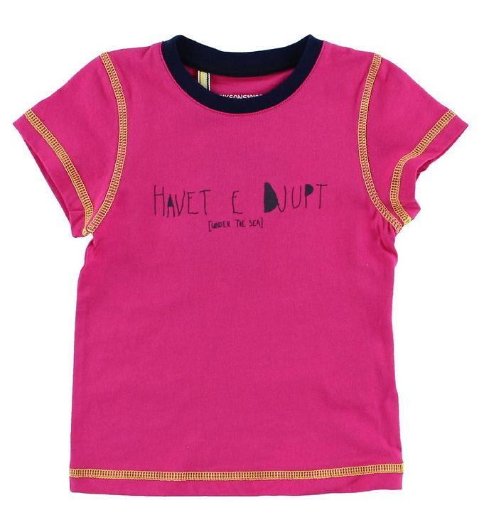 Image of Didriksons T-shirt - Tatipe - Fuchsia m. Tekst (JA675)