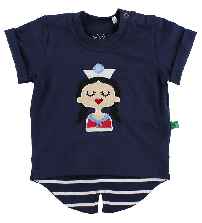 Image of Freds World T-Shirt - Navy m. Skibspige (JB870)