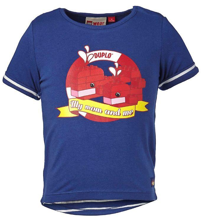 Image of Lego Duplo T-shirt - Mørkeblå m. Print (JC348)