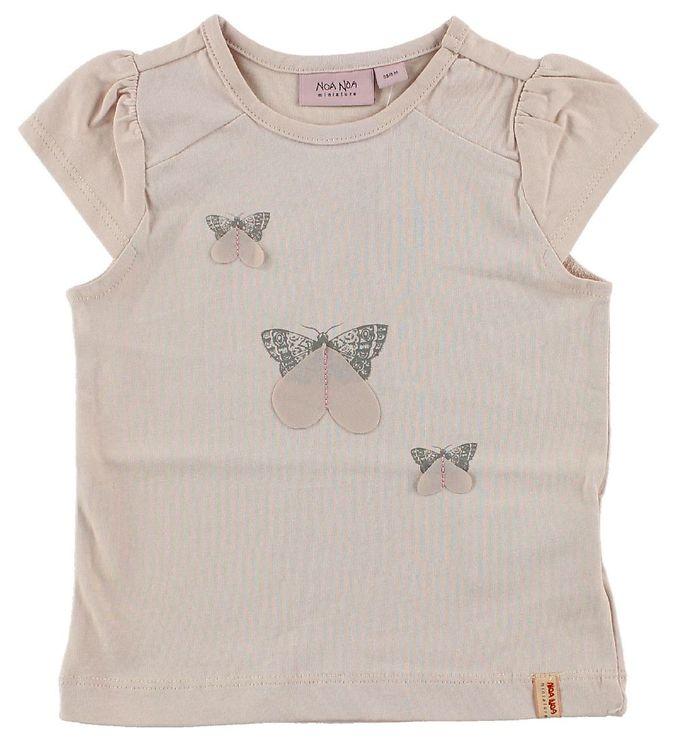 Image of Noa Noa Miniature T-shirt - Pudderrosa m. Sommerfugle (JC789)