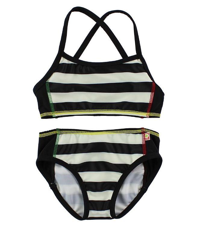 47068927 Sort hvid stribet bikini
