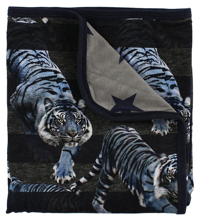 Image of Molo Tæppe - 80x75 - Niles - Blue Tigers (JC990)