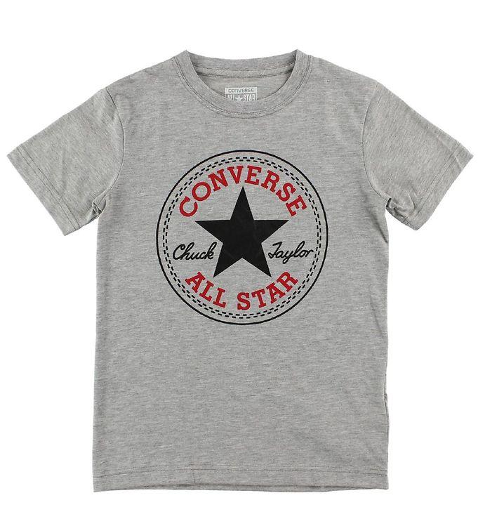 Converse T-shirt - Gråmeleret m. Logo