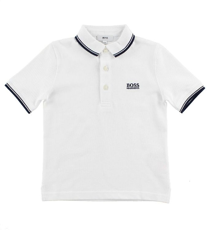 Image of BOSS Polo - Hvid/Navy (JD664)
