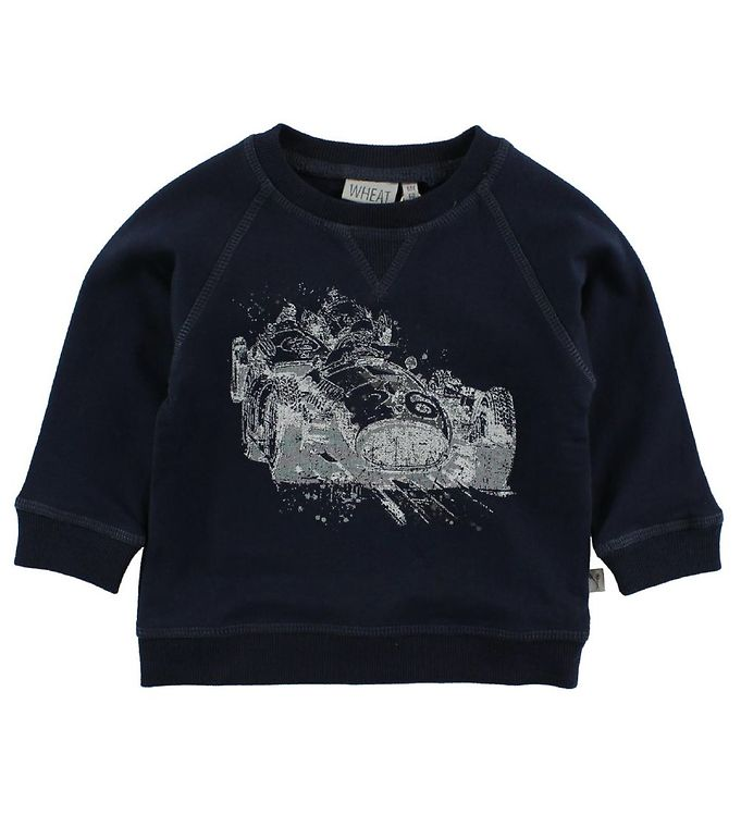 Image of Wheat Sweatshirt - Navy m. Racerbil (JE325)