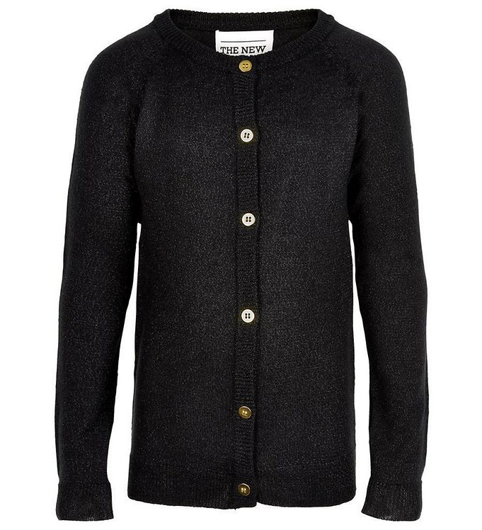 Image of The New Cardigan - Sort m. Glimmer (JE404)