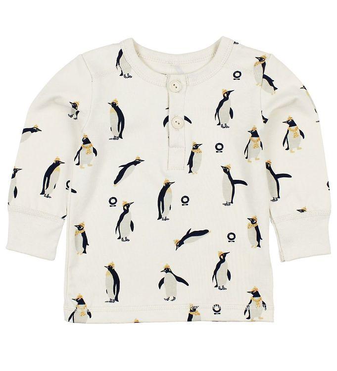 Billede af Katvig Bluse - Creme m. Pingviner