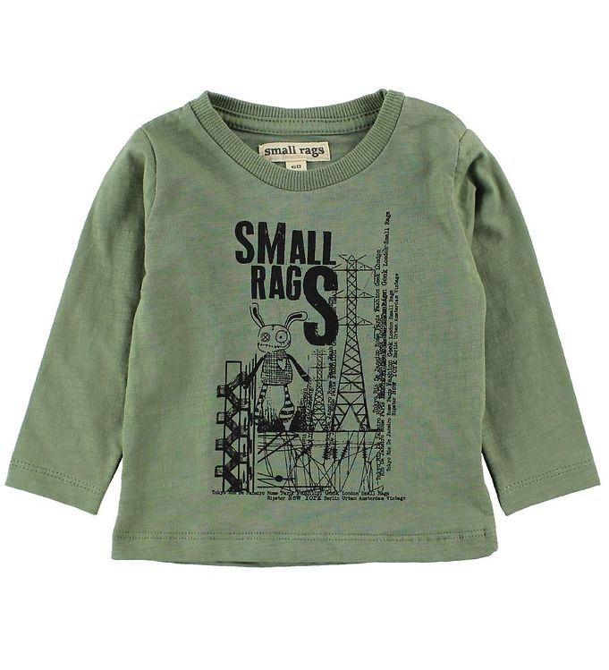 Image of   Small Rags Bluse - Grønmeleret m. Mr. Rags/Elmaster