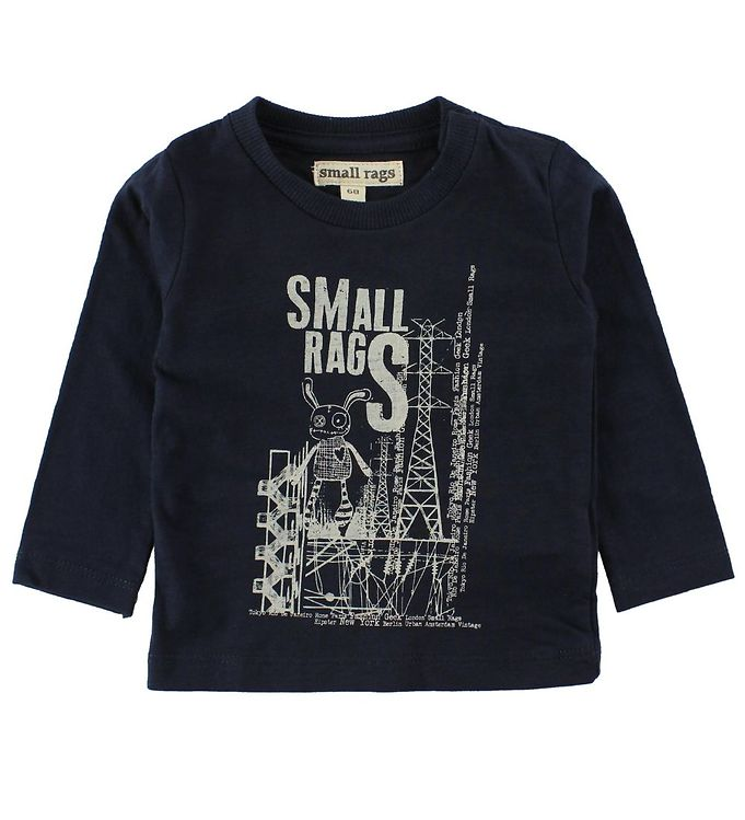Image of   Small Rags Bluse - Navy m. Mr. Rags/Elmaster