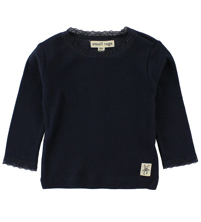 Image of Small Rags Bluse - Navy m. Hulmønster (JG734)