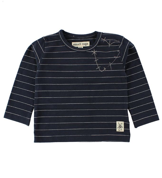 Image of Small Rags Bluse - Navy m. Striber (JG773)
