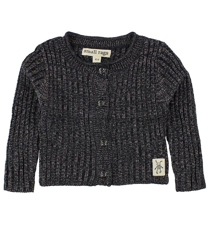 Image of Small Rags Cardigan - Strik - Navy m. Glimmer (JG799)
