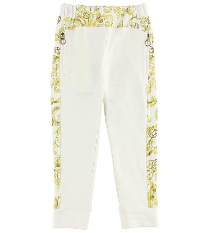 Image of Young Versace Sweatpants - Creme m. Gult Mønster (JH032)