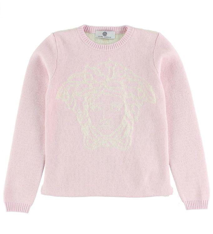 Billede af Young Versace Bluse - Strik - Rosa m. Logo
