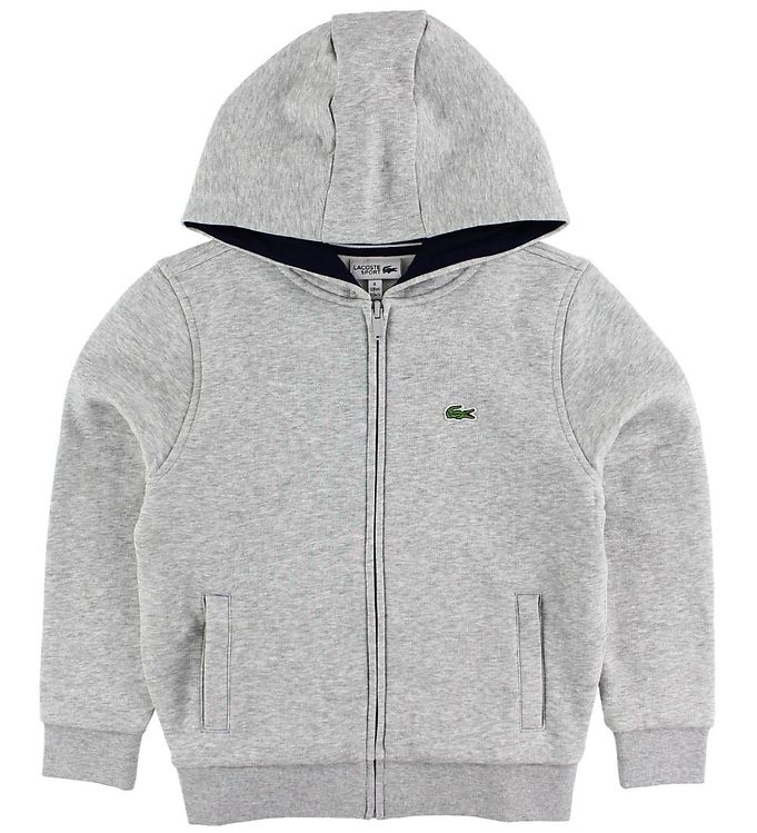 Image of Lacoste Cardigan - Sweat - Gråmeleret (JH466)